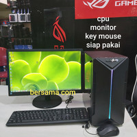 PC gaming editing vga 4 gb Ssd 120 gb monitor full set