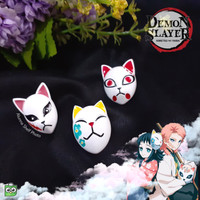 Pin Anime Demon Slayer Mask Kimetsu no Yaiba Kitsune Brooch Bros