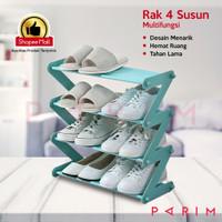 PARIM RAK SEPATU / RAK SANDAL 4 SUSUN / RAK BUKU / RAK SEPATU PRM-202