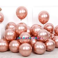 Balon Chrome Rose Gold / Balon Metalik Chrome / Balon Latex Chrome