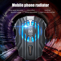 Original Memo FL01 LED Mobile Phone Cooler Gaming - Hitam