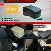 armrest tangan / console box hitam + usb V2 otoproject Xpander