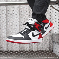 SEPATU NIKE AIR JORDAN 1 HIGH BLACK TOE.SIZE 39-44.PREMIUM QUALITY