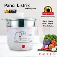 PARIM PANCI LISTRIK MULTI FUNGSI PANCI COOKER 0.8 LITER TEFLON PRM-801
