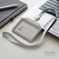 Bantex Grey Dual Side ID Card Holder Lanyard Landscape #8880 05