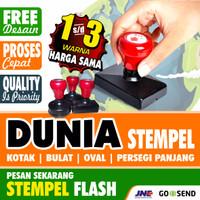 Stempel Flash Otomatis 1 Free Desain 1 s/d 3 warna harga sama - Ukuran Kecil