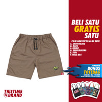 THISTIMEBRAND SHORTPANTS EPITOME YELLOW BROWN