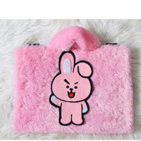 Tas Laptop Cooky BT21 Full Body pink Lebat 10-17 Inch Leptop Softcase