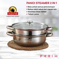 PARIM Panci Steamer Stainless 2 Tingkat BERMEREK YK DESIGN YK-805