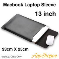 Tas Macbook Laptop Sleeve Case PU Leather ELEGANT SERIES 13 inch