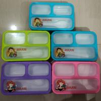yooyee kotak makan lunch box 3 sekat anti bocor tumpah BPA free