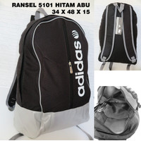 Tas Ransel Pria Adidas 5101 Hitam Travel Punggung Backpack Anti Air