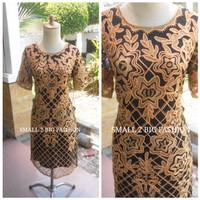 dress pesta premium jumbo / dress natal impor big size L XL XxL 3L