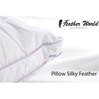 Feather World Pillow Silky Feather Mix Microfiber , Bulu Angsa Asli