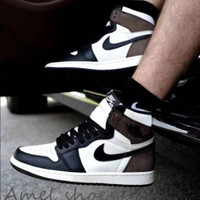 SEPATU NIKE AIR JORDAN 1 RETRO HIGH OG DARK MOCCA.SIZE 39-44. PREMIUM