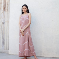 Stella Dress Dusty Pink - Rayon Premium Nyaman Merah Muda