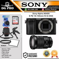 Sony Alpha A6400 + Sony E PZ 18-105mm F4 G OSS Lens Mirrorless Camera