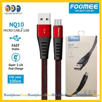 Kabel Data Foomee NQ10 Micro Usb 1M Fast Charging 2.1A Anti Fracture