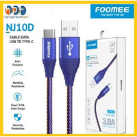 Kabel Data Type C Foomee NJ10d Fast Charging 3.0A Cable Data 100Cm