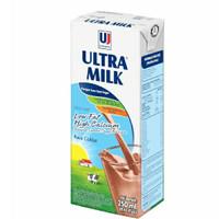 ultra susu cair low fat hi-calcium coklat 250ml