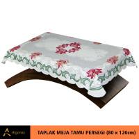 Taplak Meja Tamu Persegi Motif Batik Cream Print (80x120)