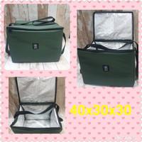Tas Aluminium Go Food Gosend 40x30x30cm / Cooler Bag Jumbo / Tas Bekal