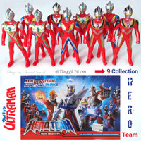 ULTRAMAN 9 HERO TEAM FIGURE COLLECTION - MAINAN SUPER HERO ANAK MURAH