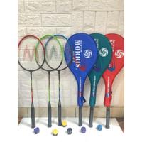 Raket badminton Pemula Moris (Single Raket) Bonus grip