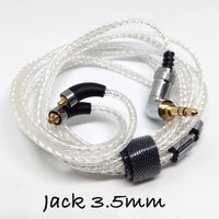 Teflon Silver Plated MMCX Cable Replacement HiFi Audio Solution