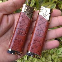 Korek Api Gas Las Kulit Elegan Chanel Gucci TIPE LS-002