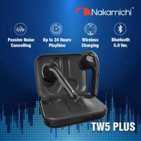 Nakamichi TW5 Plus Wireless Earphone Bluetooth Grs Resmi