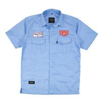 SHOCK WORKSHIRT-Kemeja Pendek, Casual / Baju Kerja Nyaman Dipakai - M