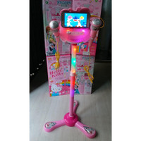 Mainan Anak Microphone Frozen Double Mic MP3 Karaoke Duo 6980