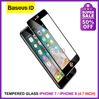 Baseus Tempered Glass Full Cover Edge Anti Gores iPhone 7 / iPhone 8