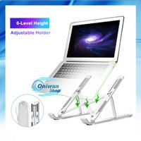 Laptop Stand Holder Portable Dudukan Tablet Aluminium Adjustable