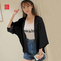 HanaFashion - Lucia Basic Casual Cardigan Outer Simple Wanita - SB136