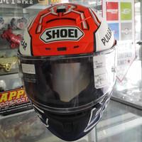 Promo !! Helm Shoei X-Fourteen MARQUEZ 5 size L eurofit stock lama DOT