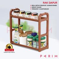 PARIM RAK DAPUR RAK WASTAFEL RAK PLASTIK SERBAGUNA RAK KECIL PRM-210