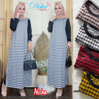 Alisha slit dress bahan kaos