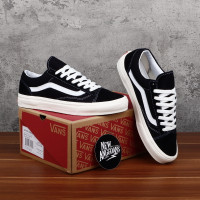 Sepatu Vans Oldskool Style 36 OG LX Black White DT BNIB