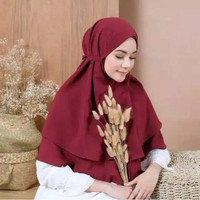 HIJAB BERGO MARYAM 2 lAYER DIAMOND/BEGO INSTAN