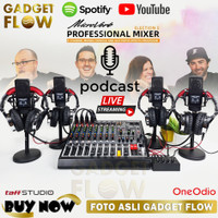 PAKET PODCAST PREMIUM 4 Mic LGT-240 Taffstudio MICROVERB ELECTION 8