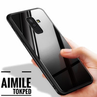 Xiaomi Redmi 5 Back Case Cover Glass Anti Baret Black Glass