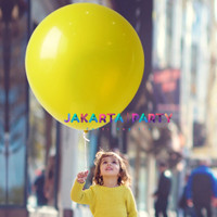 Balon Latex Doff Kuning Jumbo / Balon Latex Doff / Balon Doff Jumbo