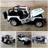 Diecast Jeep Wrangler Police Alloy - Koleksi Miniatur Mobil Polisi