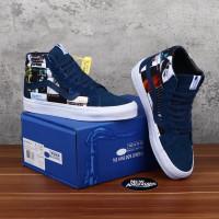 Sepatu Vans SK8 Hi X Blue Note Record X DQM Dress Blue Navy BNIB