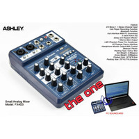 MIXER AUDIO ASHLEY FX 402i BLUETOOTH,MP3,USB (4 CHANNEL)