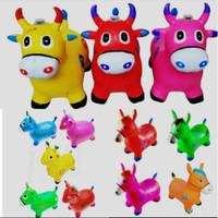 Mainan Kuda Jumping - Hewan Tunggang Karet Tanduk Anak Edukasi
