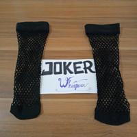 kaos kaki jaring jala hitam pendek net fishnet cosplay socks stockings