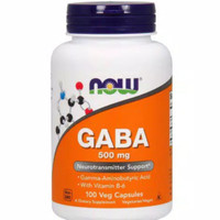 NOW FOODS GABA 500 MG 100 VEG